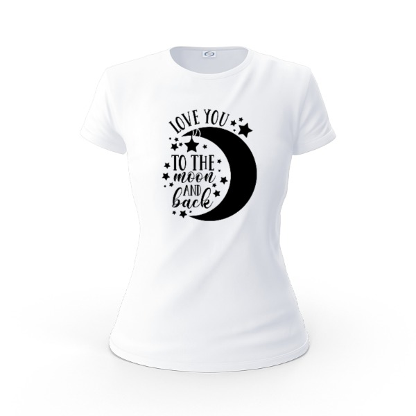 To The Moon and Back - Ladies Solar Short Sleeve