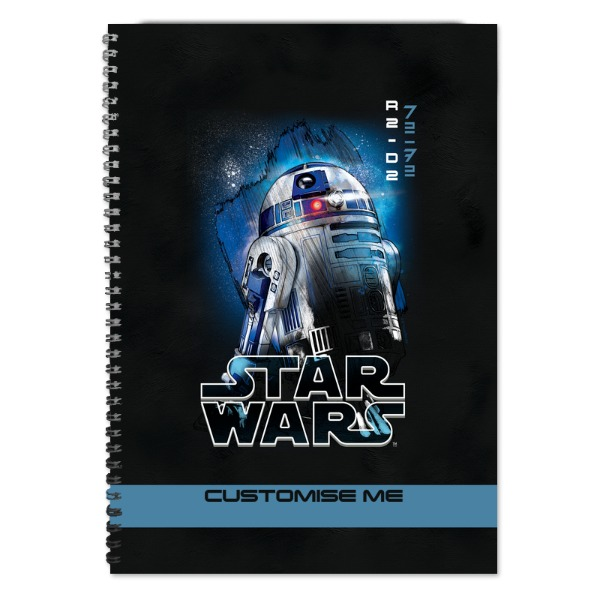 Star Wars R2-D2 Last Jedi Spray Paint A4 Notebook