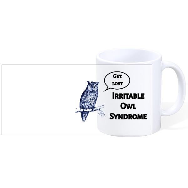Irritable Owl - Irritable Owl - Mug Ceramic White 11oz
