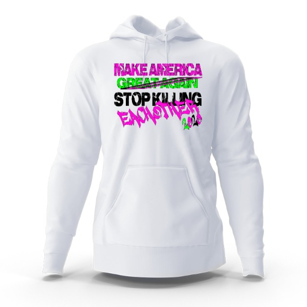 M.A. Stop Killing Eachother - Hoody Sweatshirt Small Print Area