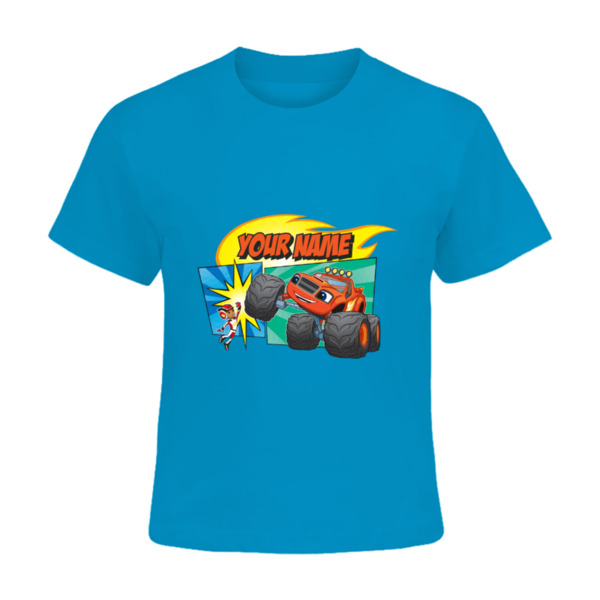 Blaze and the Monster Machines Kids T-shirt - AJ and Blaze