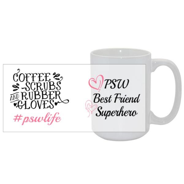 PSW life 15oz mug - Mug Ceramic White 15oz