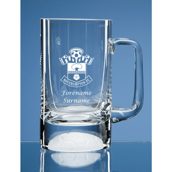 Southampton FC Personalised Crest Half Pint Ball Base Tankard
