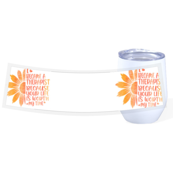 Therapist cup - Travel Wine Cup Stainless Steel White 12oz