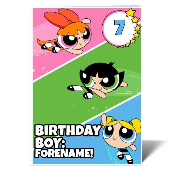 Powerpuff Girls Birthday Birthday Boy Card