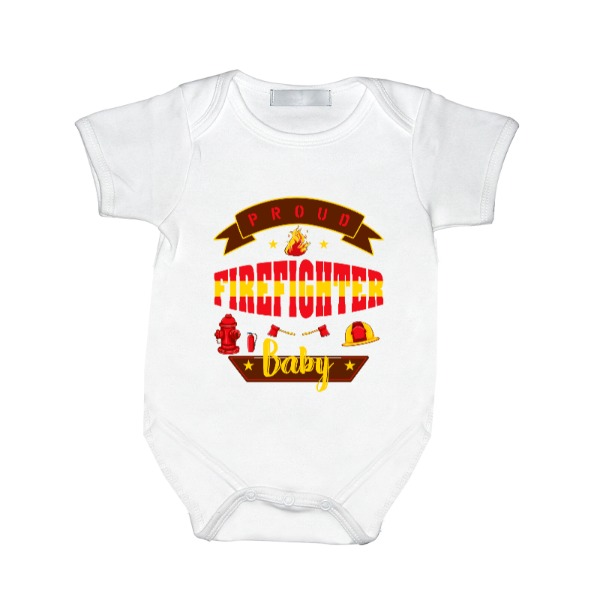 firefighter Baby - Baby One Piece