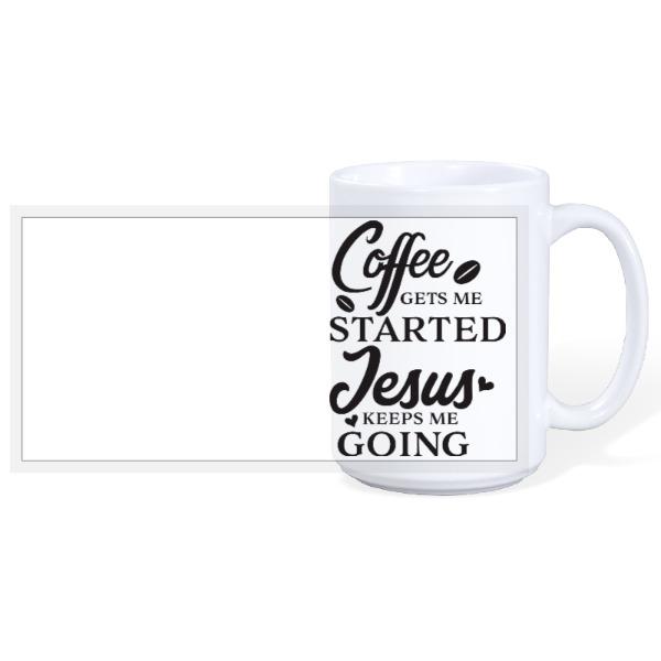 Coffe & Jesus - 15oz Ceramic Mug