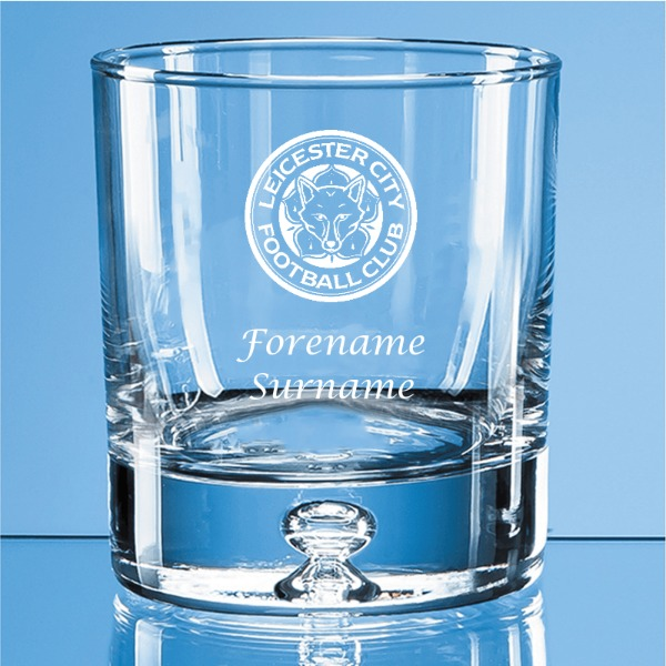 Leicester City FC Crest Bubble Base Whisky Tumbler