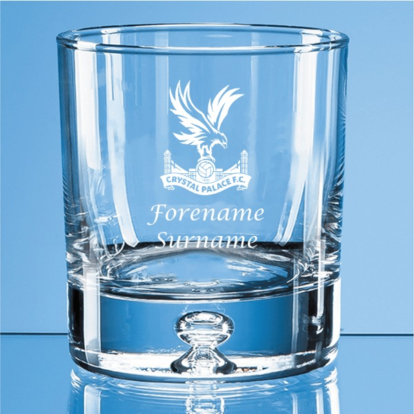 Crystal Palace FC Crest Bubble Base Whisky Tumbler