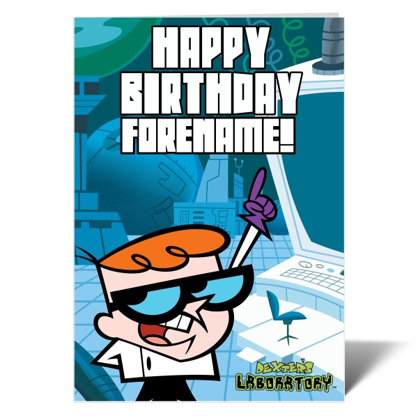 Dexter's Lab Happy Birthday Birthday Card