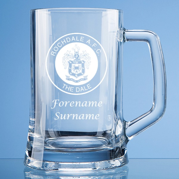 Rochdale FC Crest Large Plain Straight Sided Tankard