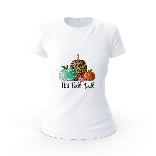 its fall - Ladies Solar Short Sleeve Large Print Area