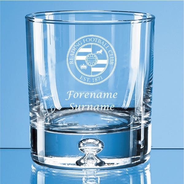 Reading FC Crest Bubble Base Whisky Tumbler