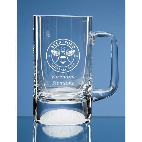 Brentford FC Crest Half Pint Ball Base Tankard
