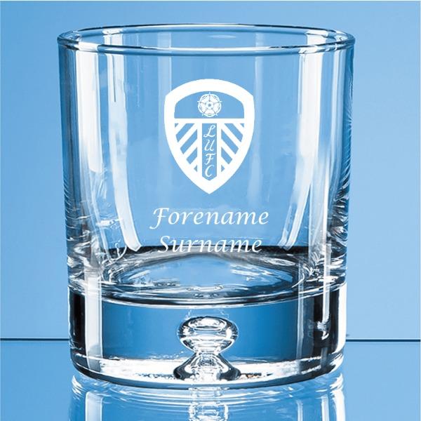 Leeds United FC Crest Bubble Base Whisky Tumbler