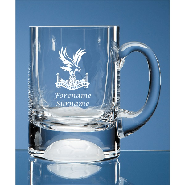 Crystal Palace FC Personalised Crest Ball Base Tankard