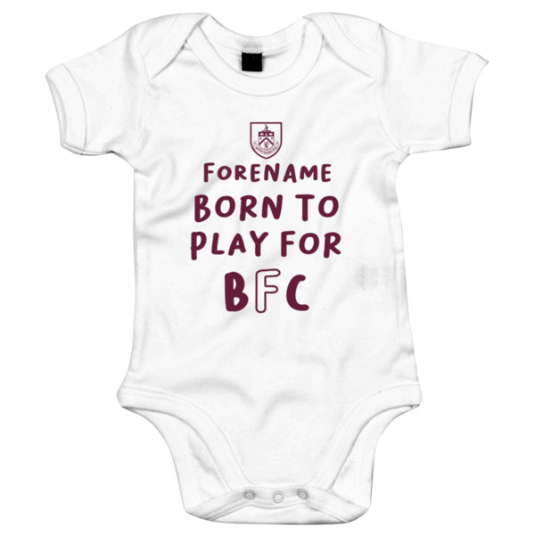 Burnley FC Born to Play Baby Bodysuit