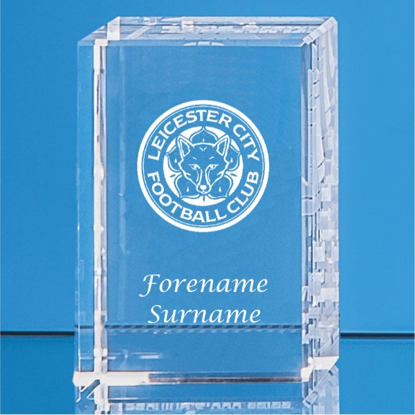 Leicester City FC Personalised Crystal Rectangle