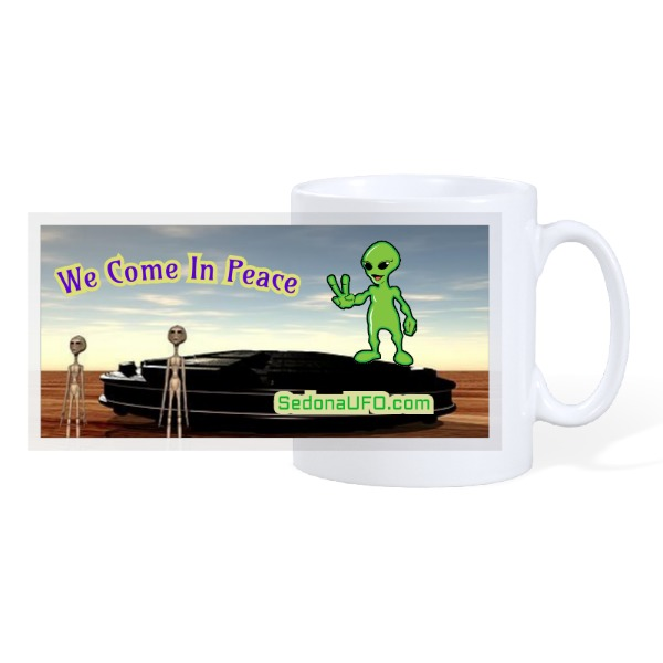 come in peace - 10oz Ceramic Mug