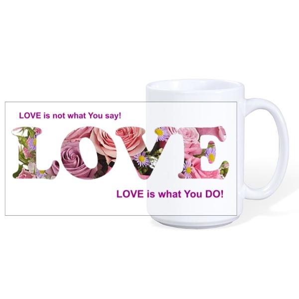 Love - Mug Ceramic White 15oz