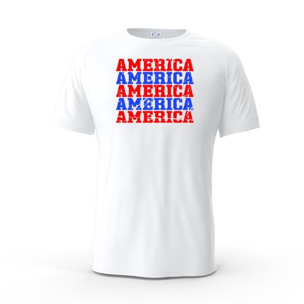 America distressed tee - Mens Solar Short Sleeve