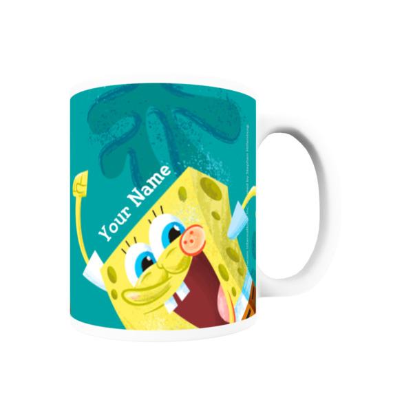 Personalised SpongeBob Mug - Happy