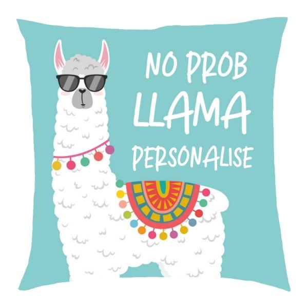 Personalised No Prob Llama Cushion