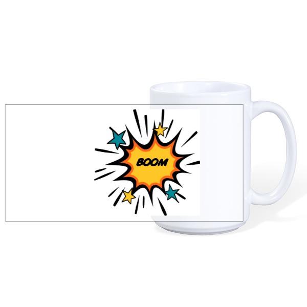 BOOM MUG - Mug Ceramic White 15oz