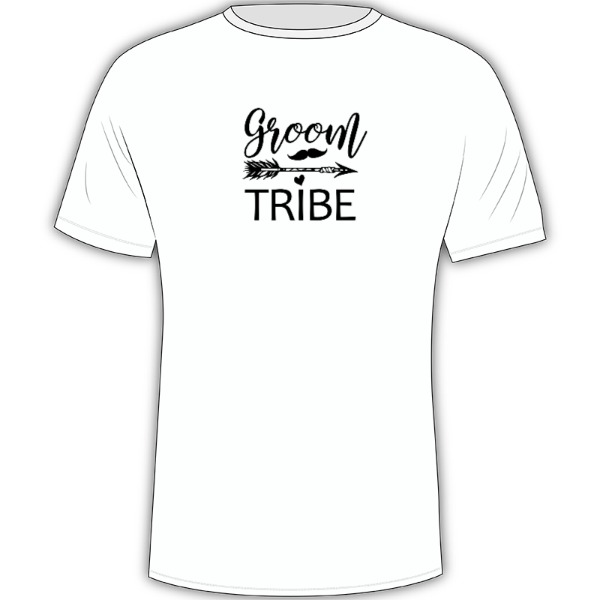Groom Tribe - Mens Solar Short Sleeve Small Print Area