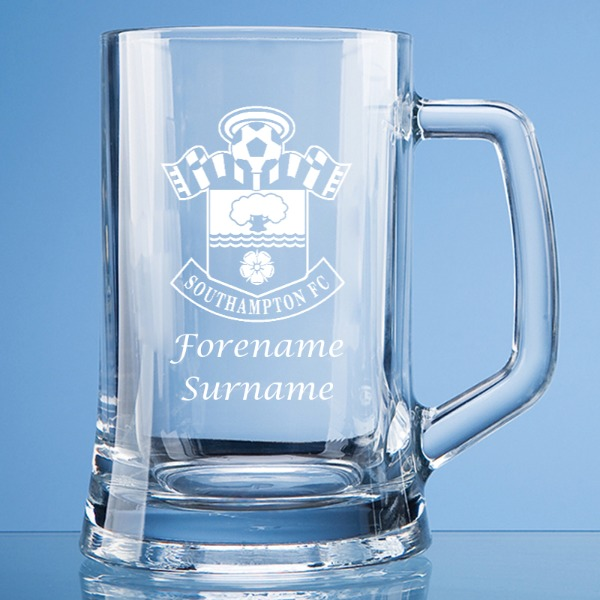 Southampton FC Personalised Crest Large Straight Sided Tankard