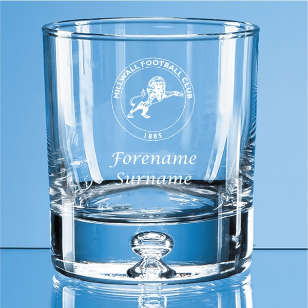 Millwall FC Crest Bubble Base Whisky Tumbler