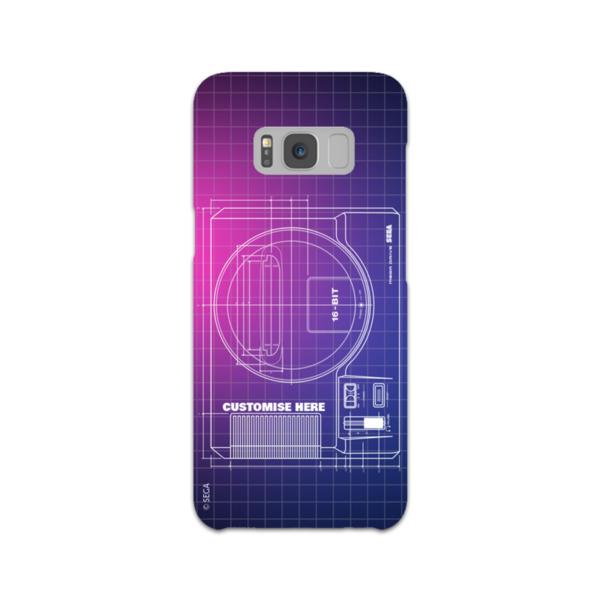 Samsung Galaxy S8 Phone Case - Mega Drive Print - Retro Sega