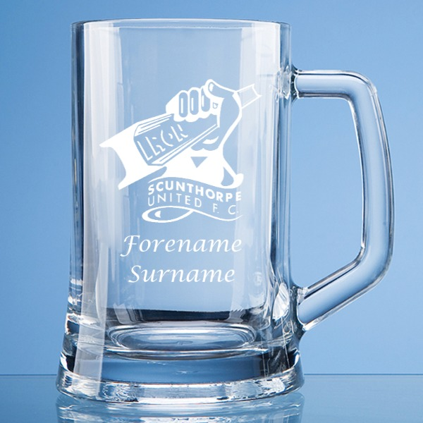 Scunthorpe United FC Crest Large Plain Straight Sided Tankard