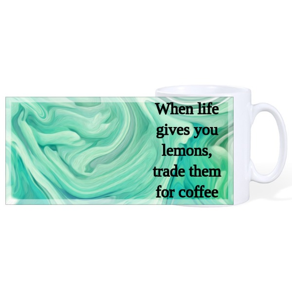 When life gives you lemons, trade them for coffee - Mug Ceramic White 10oz