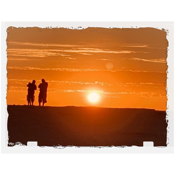 Sunset  at the beach - Rectangle Slate Photo Panel