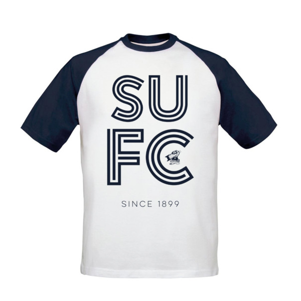Scunthorpe United FC Stripe Baseball T-Shirt