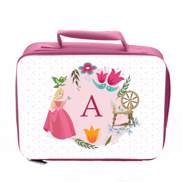 Disney Princess Aurora Initial Pink Lunch Bag