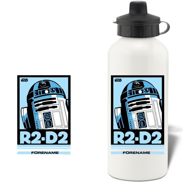 Star Wars R2 D2 Pop Art Aluminium Water Bottle