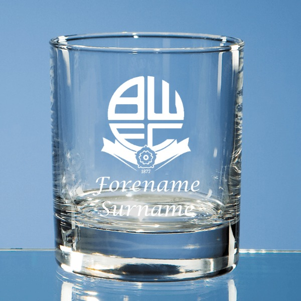 Bolton Wanderers FC Crest Old Fashioned Whisky Tumbler