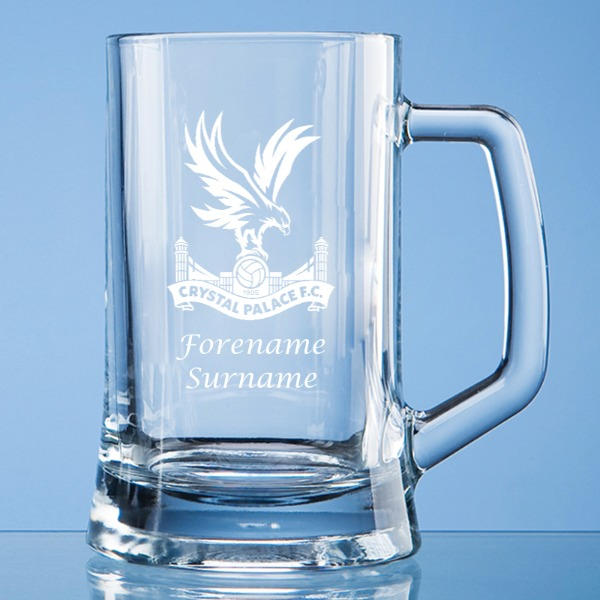 Crystal Palace FC Crest Small Plain Straight Sided Tankard