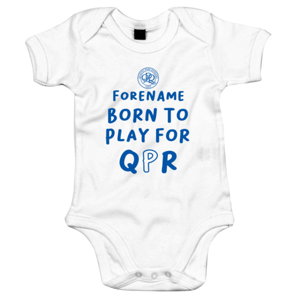 Queens Park Rangers FC Born to Play Baby Bodysuit