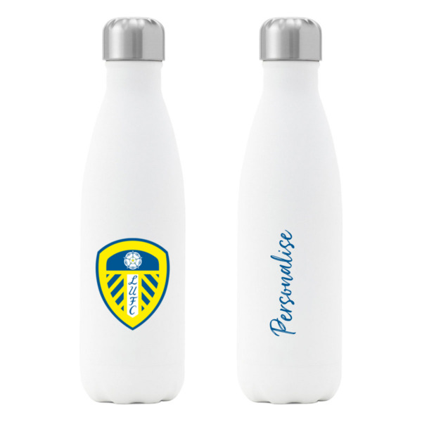 Leeds United FC Crest Insulated Water Bottle - White