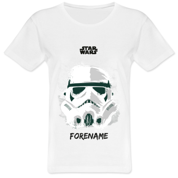 Star Wars Storm Trooper Paint  Ladies T-Shirt