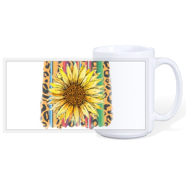 Sunflower love - 15oz Ceramic Mug