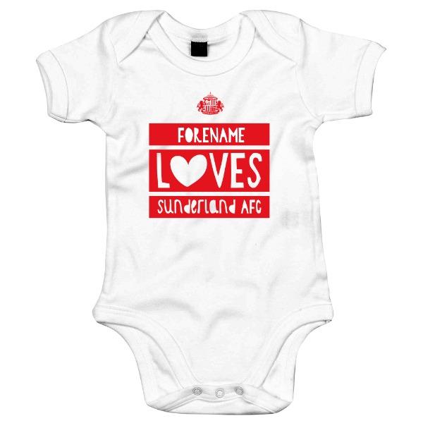 Sunderland AFC Loves Baby Bodysuit