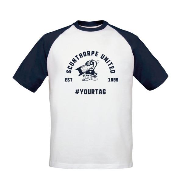 Scunthorpe United FC Vintage Hashtag Baseball T-Shirt