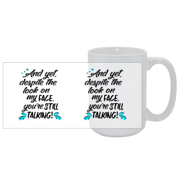 15oz White Ceramic Mug
