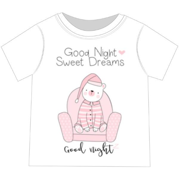 Good night - Toddler Basic Performance Short Sleeve