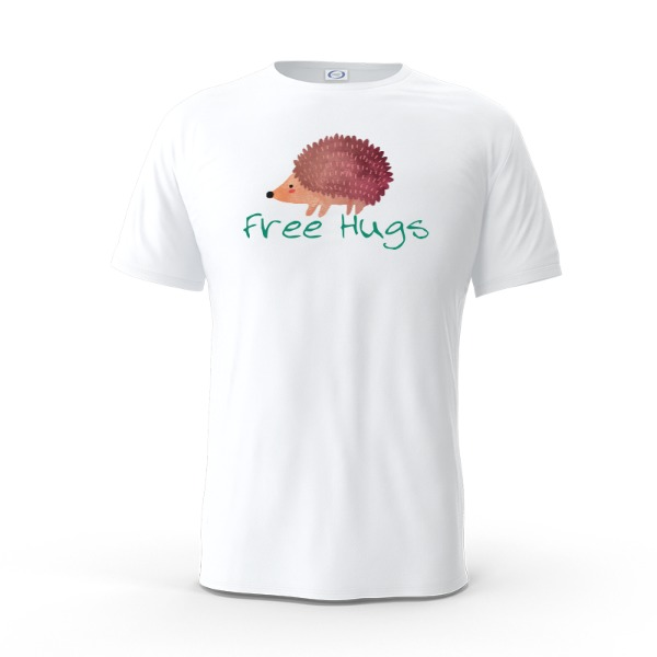 Free Hugs - Mens Solar Short Sleeve Small Print Area