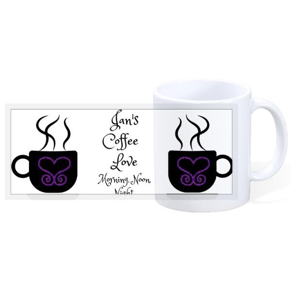Personalized Heart Mug - 11oz Ceramic Mug